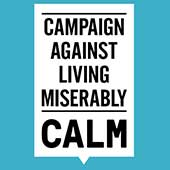 CALM - Campaign Against Living Miserably (logo