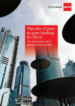 Cover of peer-to-peer lending report