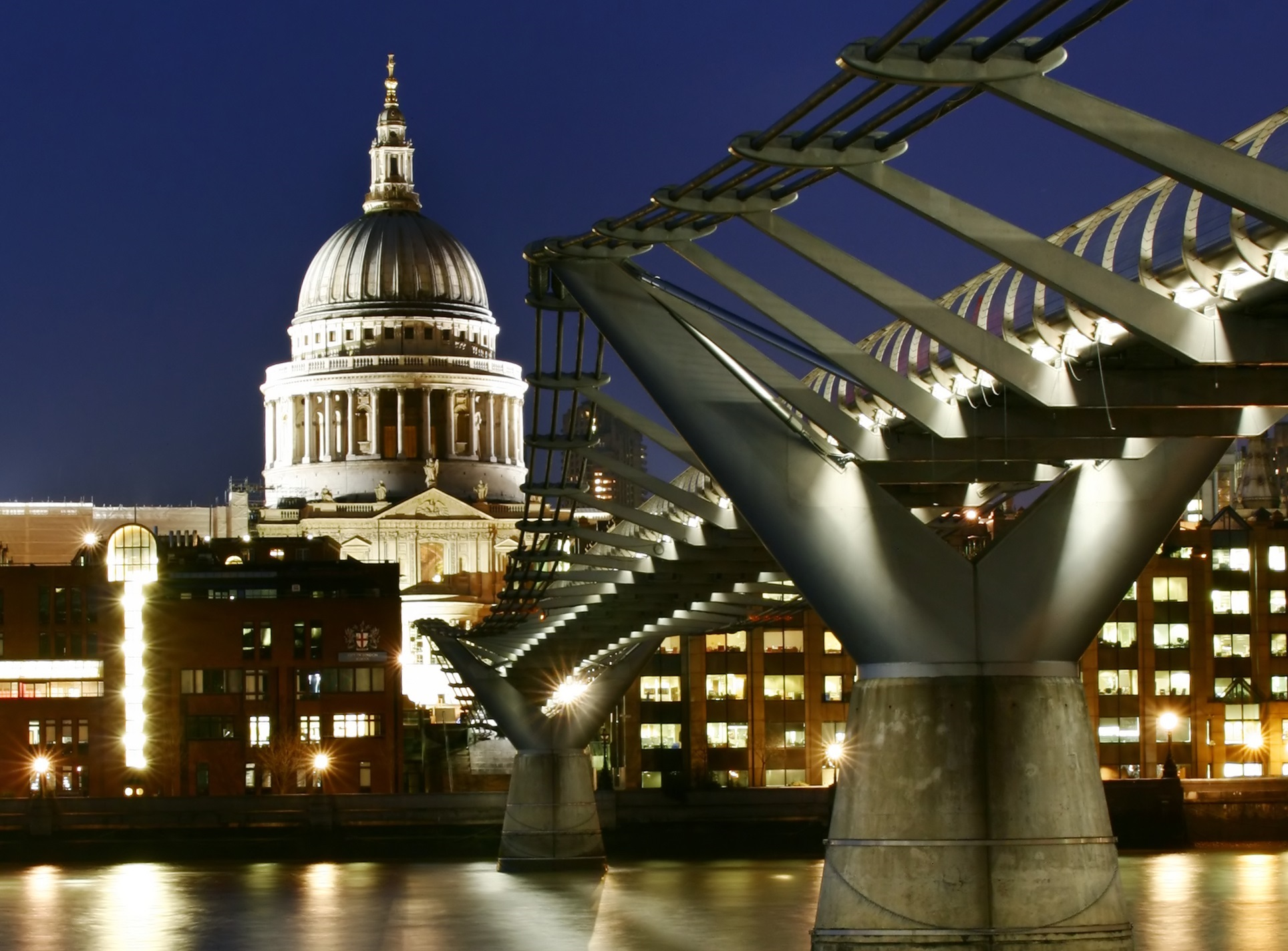 Image of the Millennium Bridge in London.
