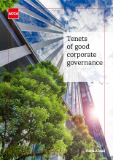 Cover image of the Tenets of good corporate governance report.