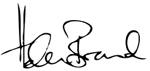 Helen Brand signature