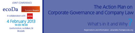 The Action Plan on Corporate Governance and Company Law: What's in it and Why?